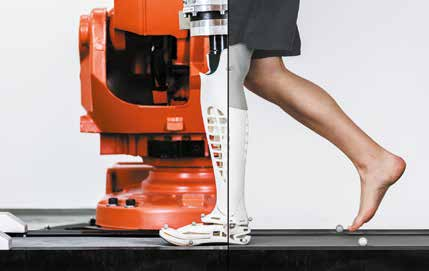 Robotertest auf Basis individueller Gangdaten am Fraunhofer IPA. Quelle: Fraunhofer IPA