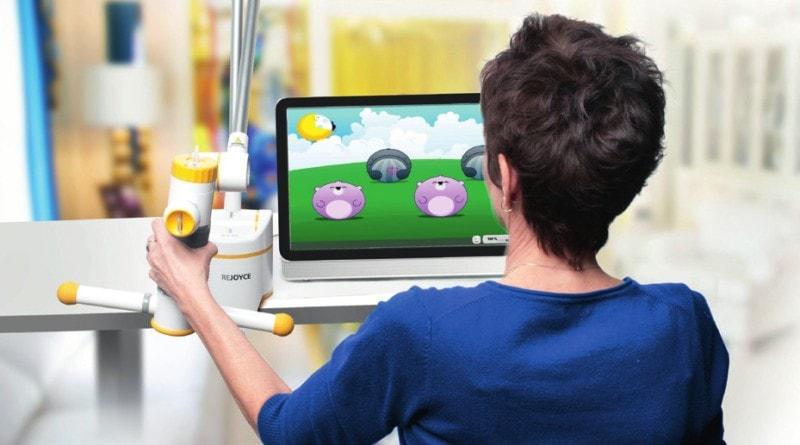 Training isolierter oder komplexer Bewegungselemente mit motivierenden Computerspielen.