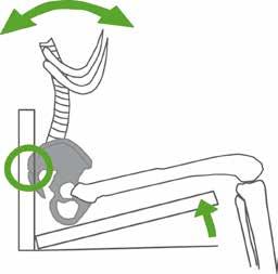 Tendenz des Beckens bei ansteigender Sitzfläche.