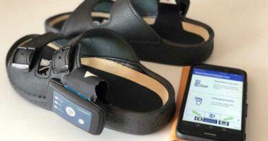 SmartPreventDiabeticFeet App, mit der die Messungen gesteuert werden.