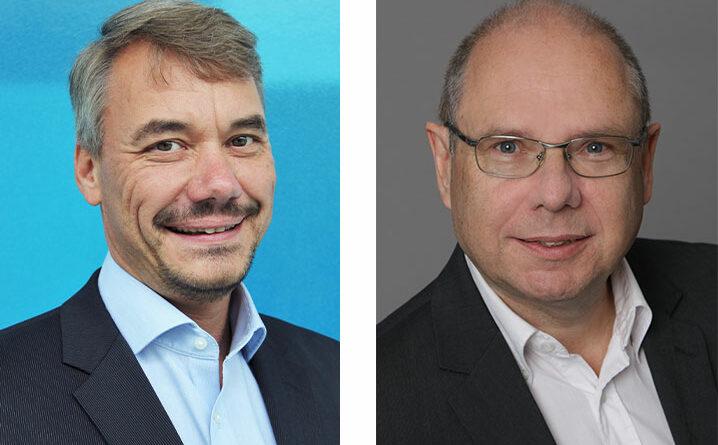 Prof. Dr. Marc Kraft (links) und Professor Dr. Klaus-Peter Hoffmann (rechts)