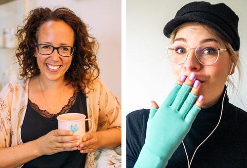 """Natalie Stark und Caroline Sprott bieten ihren Hörerinnen viel Gesprächsstoff mit ihrem Podcast """"Der Lipödem Podcast""""."""