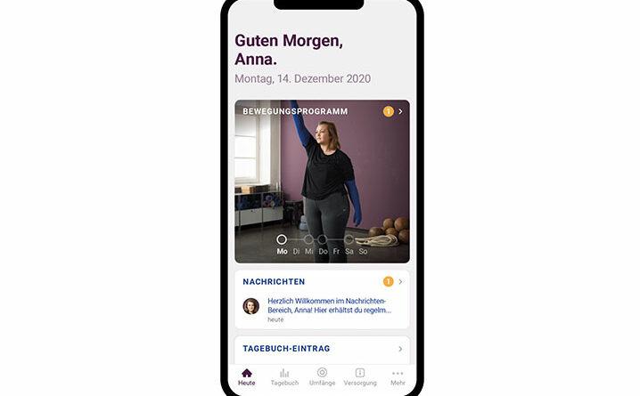 app curaflow für Patienten mit Lymphödem