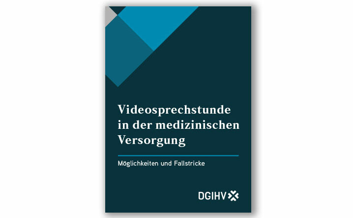 """Das Booklet der DGIHV zur """"Videosprechstunde in der medizinischen Versorgung"""" steht kostenfrei als Download zur Verfügung."""