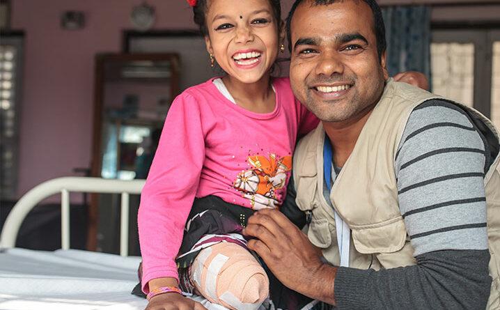 Handicap International unterstützt unter anderem Projekte in Nepal.