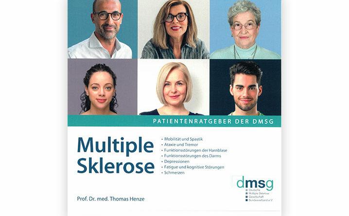 """Titelblatt der neuen Patientenbroschüre """"Multiple Sklerose"""" der Deutschen Multiple Sklerose Gesellschaft (DMSG)."""