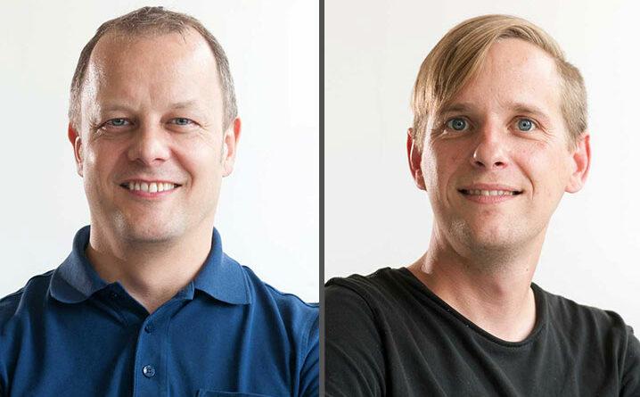 Dipl.-Ing. (FH) Jörg Blinn und Dipl.-Ing. (FH) Michael Göddel M.Eng forschen zusammen an der Hochschule Kaiserslautern, Standort Zweibrücken, im Fachbereich Informatik und Mikrosystemtechnik.