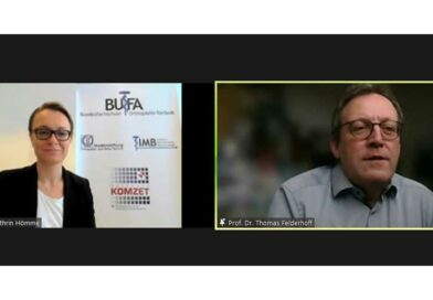 """Dr. Ann-Kathrin Hömme und Prof. Dr. Thomas Felderhoff begrüßten potenzielle Studierende beim """"Tag des Studiengangs"""" an der BUFA Corona-bedingt digital."""