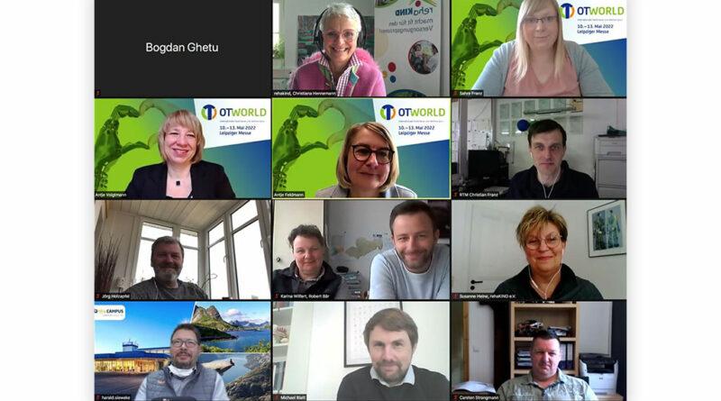 Die Mitglieder der AG Reha-Technik tauschten sich in ihrer ersten Sitzung virtuell über das Konzept des Technik-Forum Reha bei der OTWorld 2022 aus.