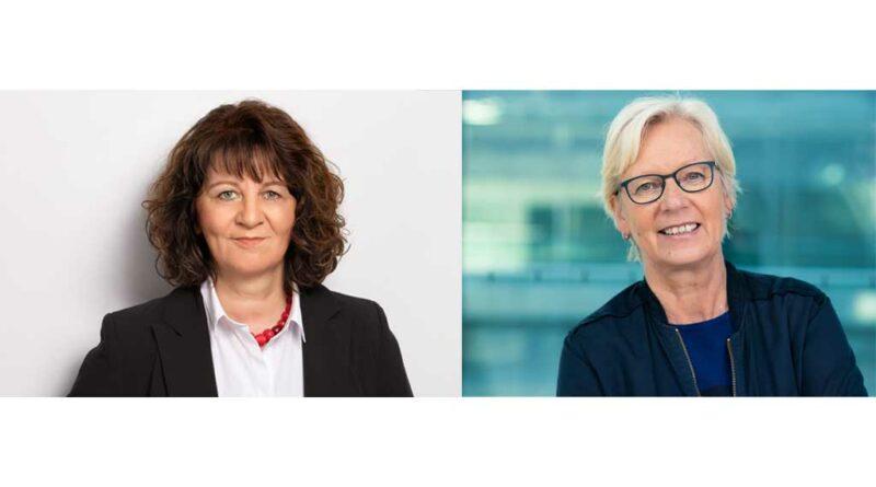 Von links: Martina Stamm-Fibich (SPD) und Maria Klein-Schmeink (Bündnis90/Die Grünen) nehmen im Live-Videotalk Stellung zur Gesundheitspolitik ihrer Parteien.