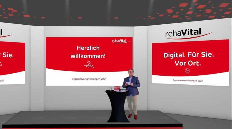 Rehavital-Geschäftsführer Jens Sellhorn berichtete auf der virtuellen Bühne der Regionalversammlungen 2021 von den Corona-bedingten Entwicklungen.