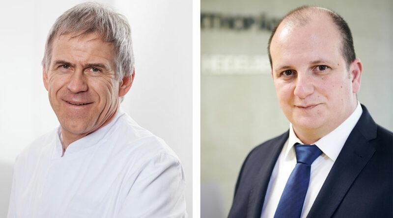 Die beiden Kongresspräsidenten der OTWorld 2022, Professor Dr. Martin Engelhardt und Dipl.-Ing. (FH) Merkur Alimusaj, präsentieren eines ihrer Schwerpunktthemen auch beim 18. ISPO Weltkongress.