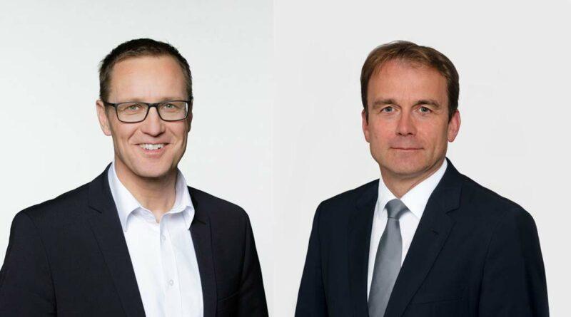 Hauptredner bei der Eurocom-Mitgliederversammlung 2021: Gast MdB Dr. Roy Kühne und Jürgen Gold, Vorsitzender Eurocom e. V.