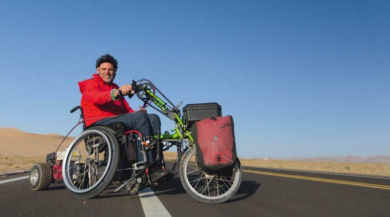 Andreas Pröve machte seinen Rollstuhl fit für Off-Road-Reisen jenseits der ausgetretenen Touristenpfade.