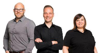 Die Ortheg hat mit Stefan Hartmann, Andreas Bolsinger und Patrizia Patzke (von links) das Führungsteam neu aufgestellt.