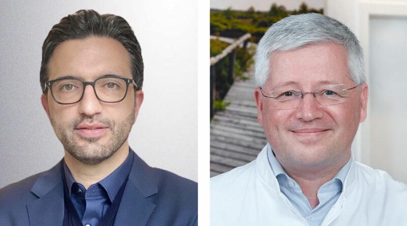 Die Tagungspräsidenten PD Dr. Knuth Rass (rechts) und PD Dr. Houman Jalaie leiten die 63. Jahrestagung der Deutschen Gesellschaft für Phlebologie in Präsenz.