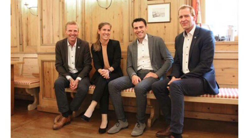 Markus Zimmermann übergab die Geschäftsführung des Sanitätshauses Zimmermann an das Trio Stephanie Hautmann, Vincent Hautmann und Matthias Christ.