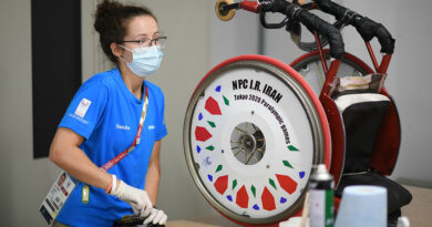 Die Reha-Technik betraf einen Großteil der Reparaturen in der von Ottobock betriebenen Technischen Werkstatt in Tokio.